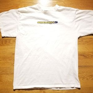 VTG 90s Nike Orange Tag Swoosh Spell Out White